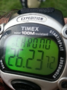 This was my time according to Uriel's watch.