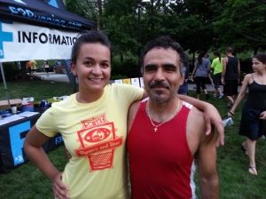 My friend and running coach, Uriel