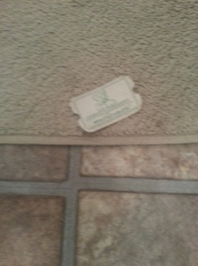 After getting out of the shower, I find a lone ticket on the floor!