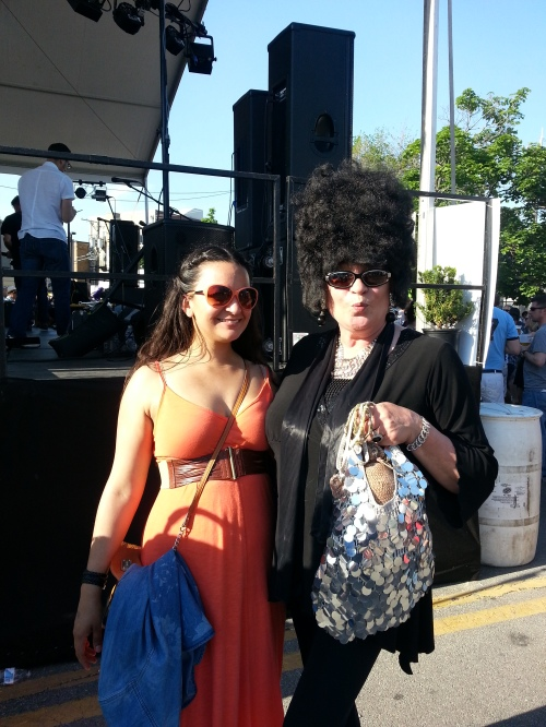 Where else, but Maifest would I meet Goth Marge Simpson and her sequined armadillo purse?